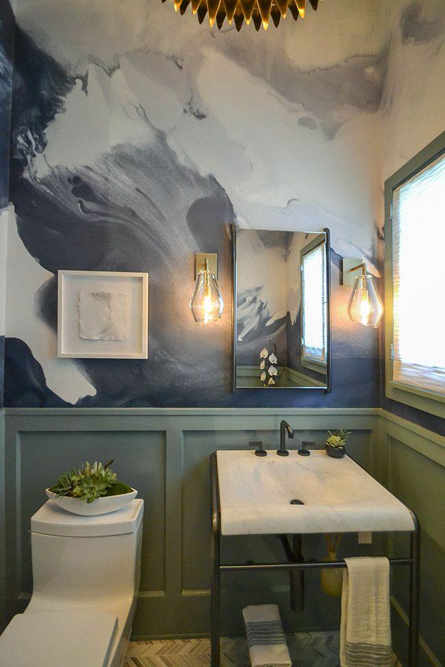 30 besten trend tapete im g ste wc bilder auf pinterest badezimmer g ste wc und tapeten. Black Bedroom Furniture Sets. Home Design Ideas