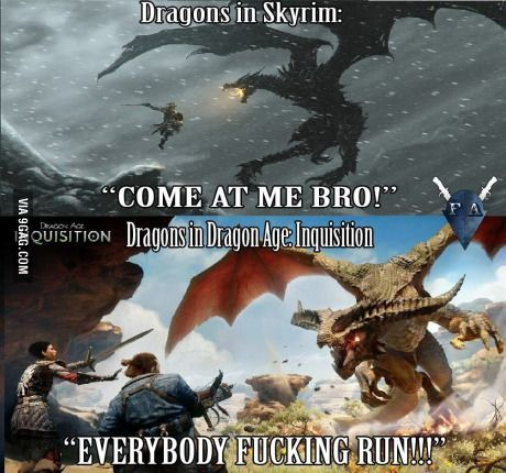 Well it's funny because it's accurate /Skyrim and Dragon Age