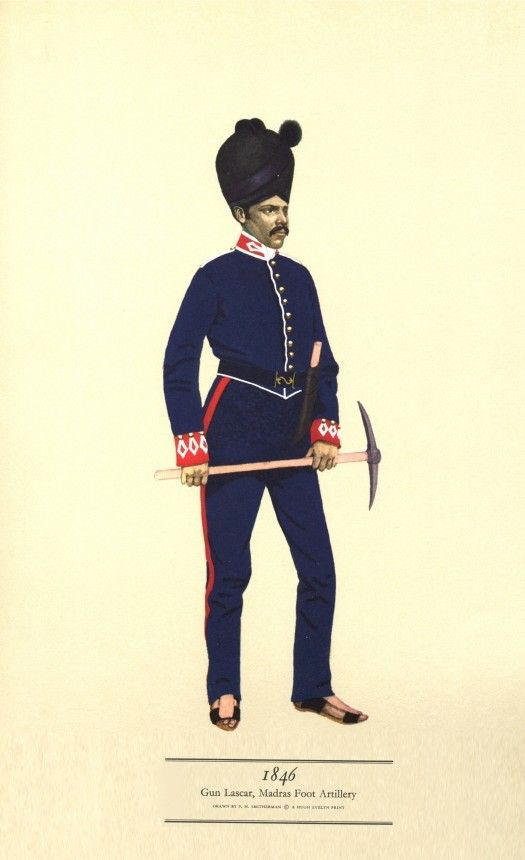 British; Madras Foot Artillery, Gun Lascar, 1846