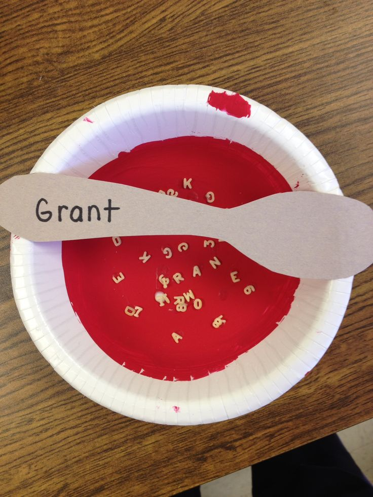 Food/nutrition- Alphabet soup craft