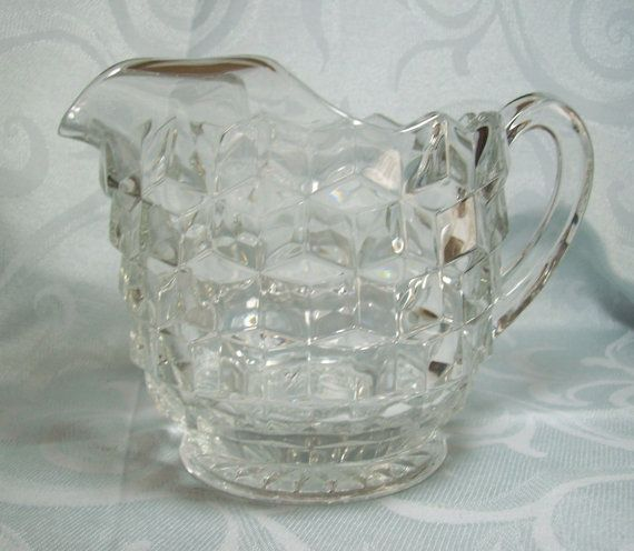 Fostoria American Pitcher 6-1/2. Fat Pitcher. Just scored one of these at a garage sale.