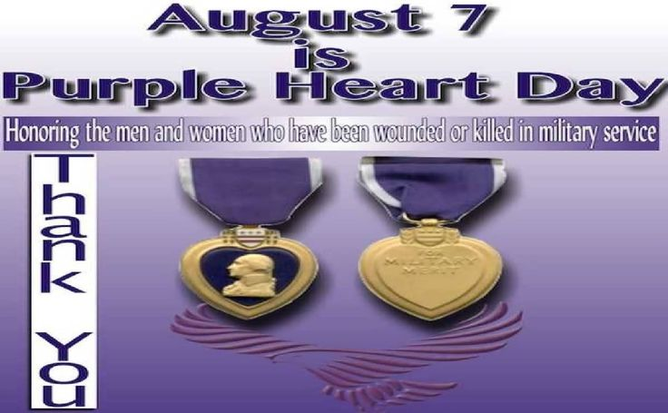 images of disney's character with purple heart day | August 7 Is Purple Heart Day Honoring The Men And Women ...