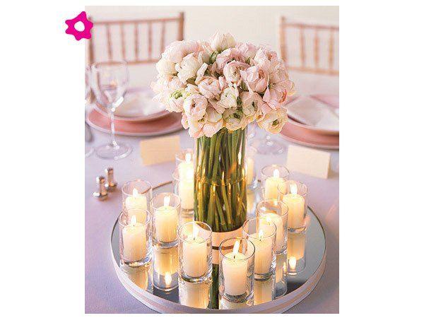 Centros de mesa para boda con velas peque as centros de - Mesas de centro pequenas ...