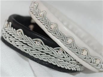 Tennarmband med traditionell fläta - tenntrådsarmband på Tradera.com -