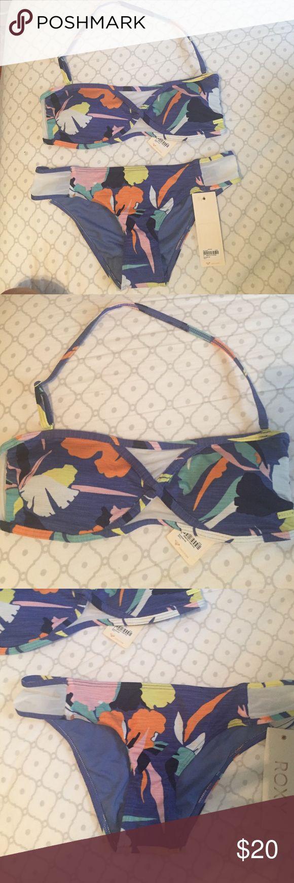Brand new roxy bikini ! Brand new with tags ; 2 piece Roxy Swim Bikinis