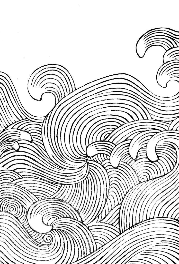 Line Art Waves : Collection of wave designs by mori yuzan from hamonshu