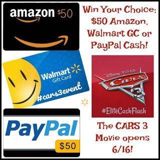 $50 Amazon/Walmart/PP-1-WW-Cars 3 -Ends 6/24 | Miki's Hope
