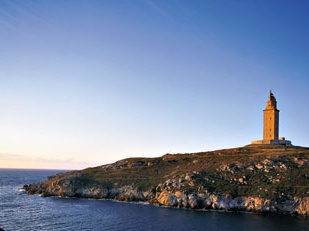 Tower of Hercules, A Coruna, Spain.  Oldest working lighthouse in the world.