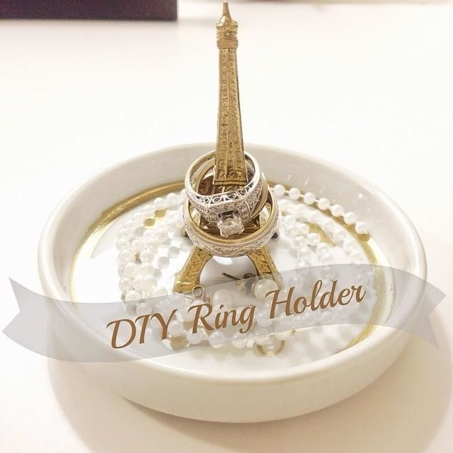 Loving my new ring holder! Thanks for the idea, @darbysmart! #darbysmart #diy #ringholder