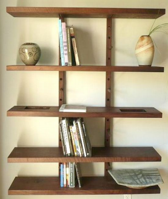 Thru block wall mounted modular shelving system large 4 Wall mounted shelf systems