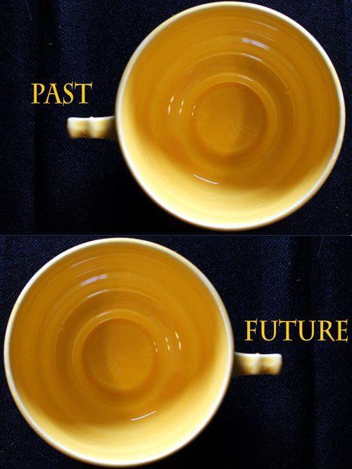 Tasseography is the practice of reading tea leaves with a goal to derive deeper meanings.  These meanings could be of a fortune-telling nature, but I'm more inclined to read the leaves for the purpose of broadening perspective or confirming intuition.