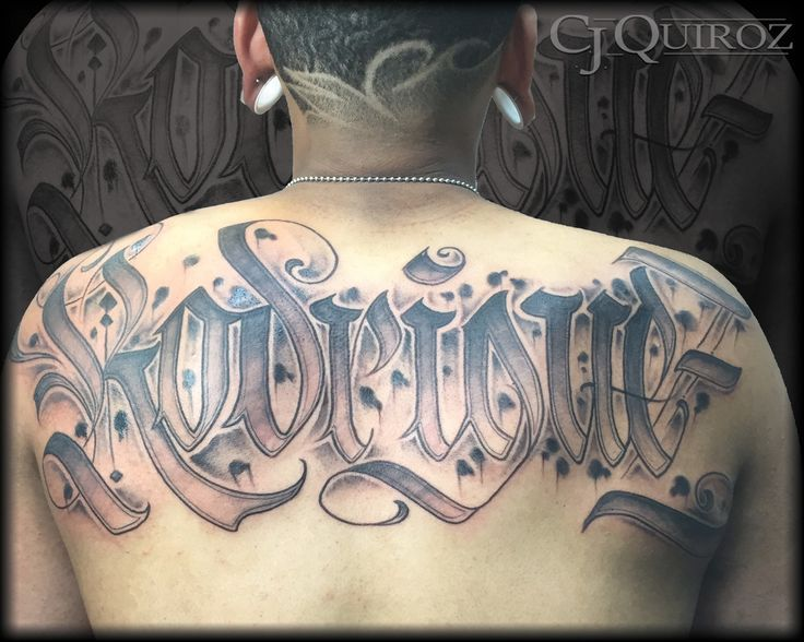 17 best images about tattoos by cj quiroz on pinterest for Letter tattoos on hand