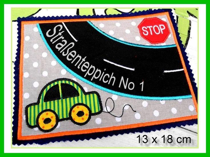 Stickmuster Stickdatei 13x18 Ith Spielteppich 1 Spielstrasse Ein Designerstuck Von Gretevomlaendle Bei Dawanda Spielteppich Stickmuster Sticken