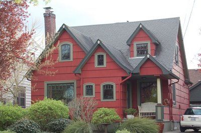 Red House Green Sage Trim Houses 2 Pinterest