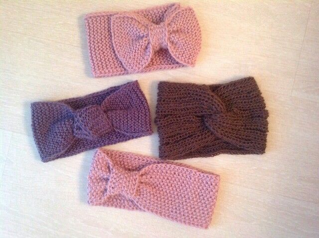 Cute knitted headbands )))))