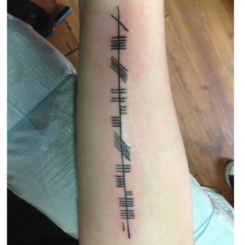 "Nice ogham tattoo ""my roots run deep"""