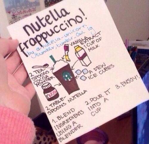 Diy STARBUCKS Nutella Frapuccino