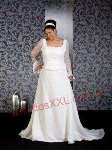 Vestido de novia sencillo para gorda