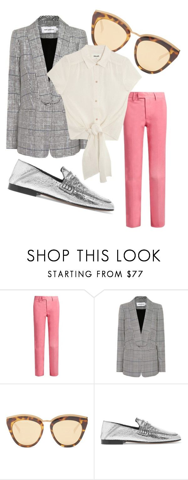 """Atuendo Oficina."" by ladydianasolerfernandez on Polyvore featuring Gucci, self-portrait, Le Specs and Isabel Marant"