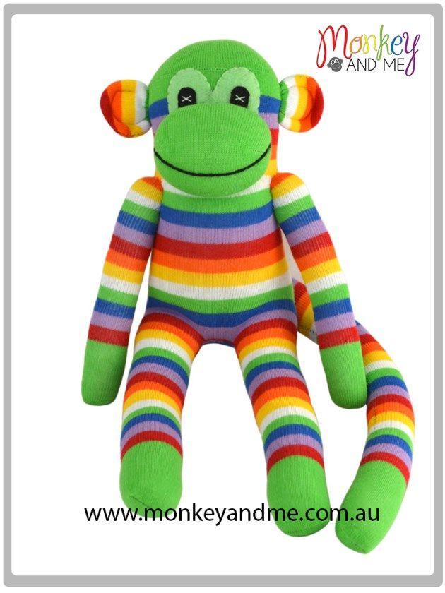 Harry the Sock Monkey  Adopt over at http://monkeyandme.com.au #sockmonkeys #gifts #toys