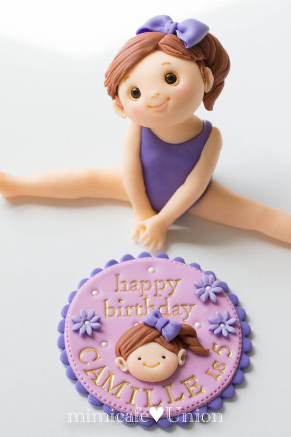 Gymnastic Girl Fondant Cake Topper