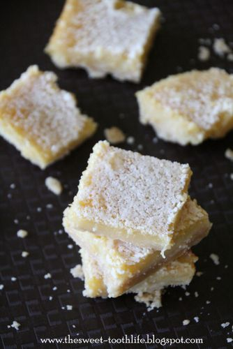 Whole Wheat} Lemon Bars - The Sweet {Tooth} Life
