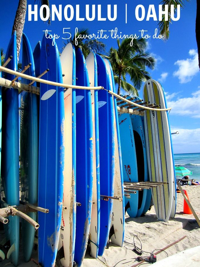Top 5 Things to Do in Honolulu, Oahu #travel #Hawaii   clubnarwhal.blogspot.com