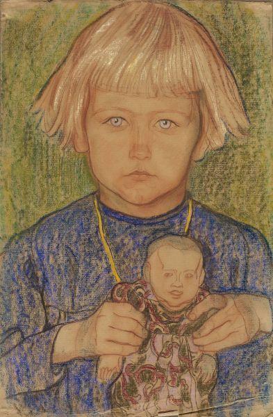 Dziewczynka z lalką - Jan Rembowski