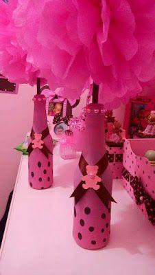 10 Ideas para Crear Centros de Mesa con Botellas Decoradas ¡Fabulosas!                                                                                                                                                      Más