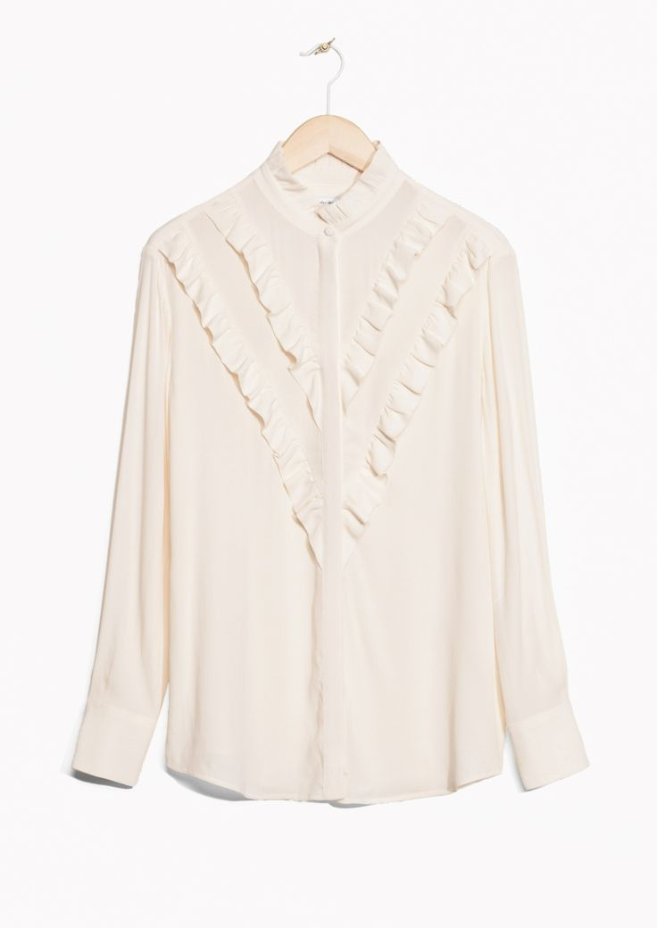& Other Stories image 1 of Frills Blouse in Off white