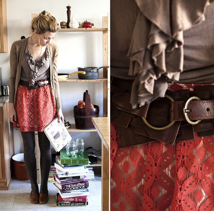 Fashion inspired by food! This fall look was inspired by a spiced cranberry sauce recipe with toasted pecans.