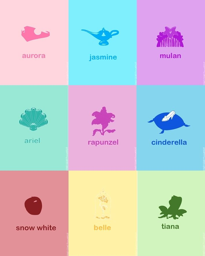 Disney Princess symbols