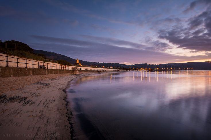 Burntisland beach looking calm and beautiful at sunset. Pic: Ian McCracken
