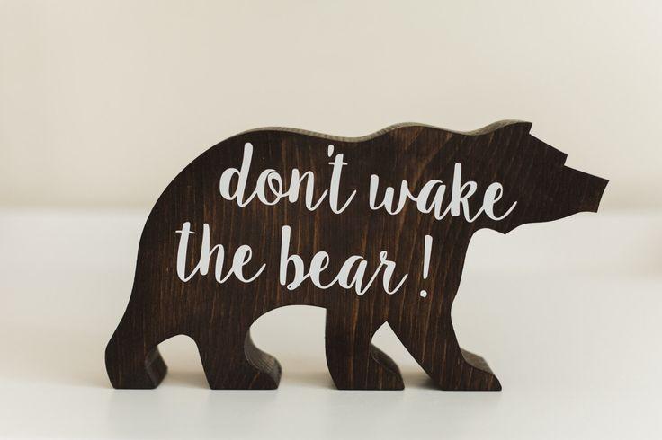 Woodland nursery - don't wake the bear - nursery decor by BabyBearOutfitters on Etsy https://www.etsy.com/listing/269897988/woodland-nursery-dont-wake-the-bear