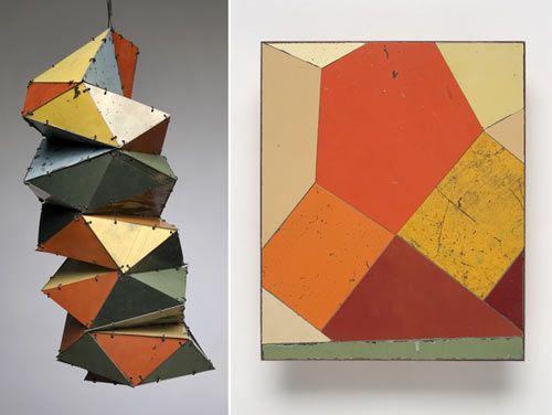 beautiful geometric work from Ted Larsen utilizing reclaimed materials