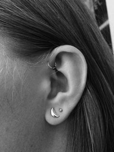 earring, forward helix, and gold image