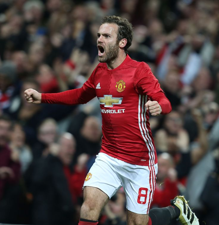 Pure passion from @manutd star Juan Mata after scoring against Manchester City!