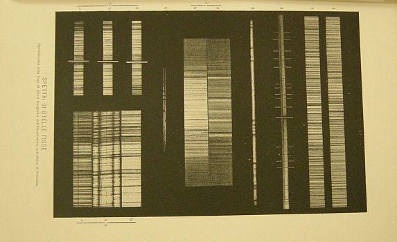 Spettri di stelle fisse. s.d. (ma 1900). Astronomia - Pianeti - Universo - Spazio - Stelle - Spettri - Stampa - Scienza -  -