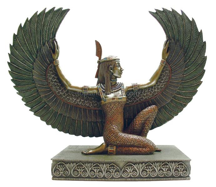 Winged Maat Egyptian goddess