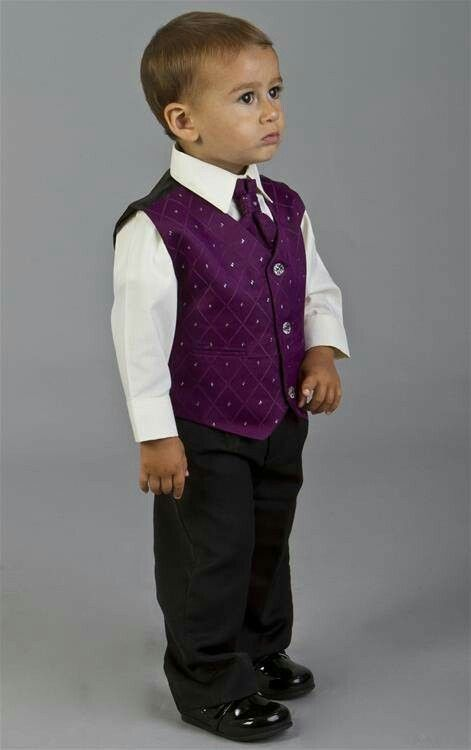 Purple Waistcoat With White Shirt And Black Trouser Wedding Suit Ideas