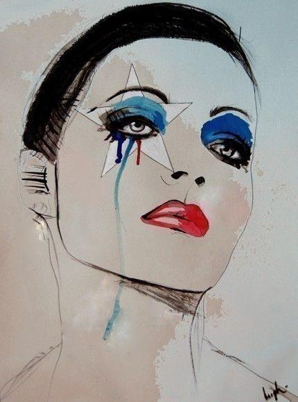 Leigh Viner #Art #Painting #Woman - face #illustration