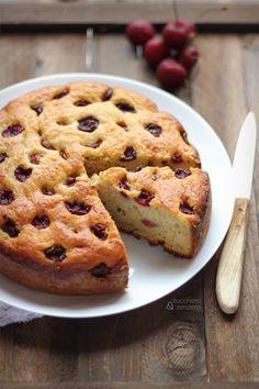 Torta alla ricotta, ciliegie e mandorle | Zucchero e Zenzero | Bloglovin'