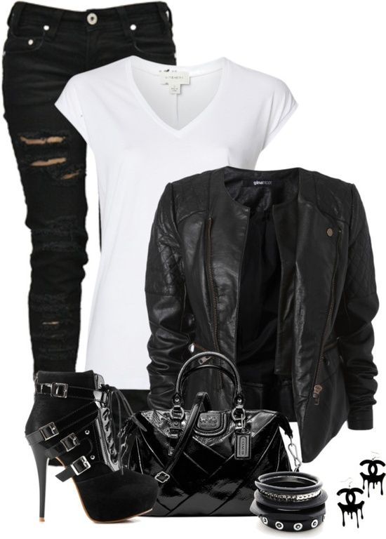 polyvore outfits | Polyvore # Outfits / Biker Chick by fashion-766 on Polyvore…