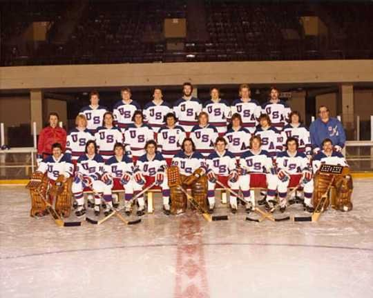 The 1980 US Olympic hockey dream team. Remember the glory! http://www.mnopedia.org/event/miracle-ice