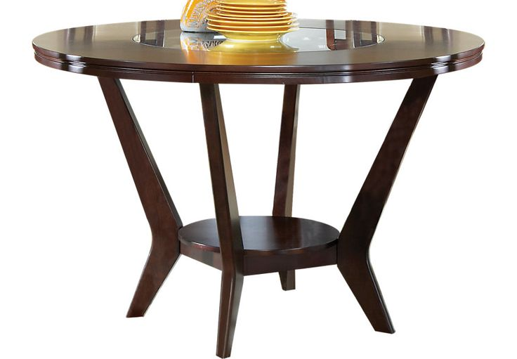Cindy Crawford Home Highland Park Ebony Round Counter Height Dining Table .449.99. 54Diameter x 36H. Find affordable Dining Tables for your home that will complement the rest of your furniture.  #iSofa #roomstogo