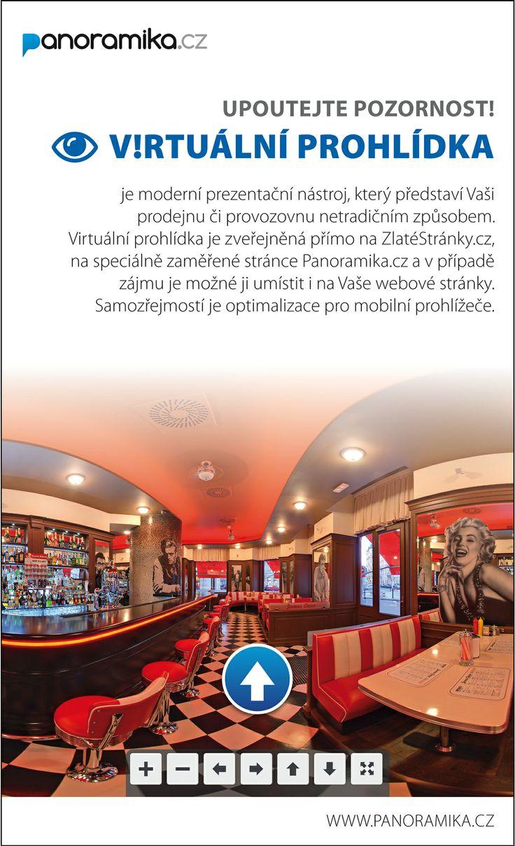 Představte svou prodejnu či provozovnu netradičním způsobem, a to prostřednictvím virtuální prohlídky. Prohlídku zveřejníme ve vašem profilu na ZlateStranky.cz, dále na speciálně zaměřené stránce Panoramika.cz a pokud budete chtít, samozřejmě je možné ji umístit i na váš web. #Mediatelcz #3D
