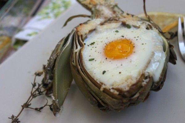 Baked Artichoke Eggs
