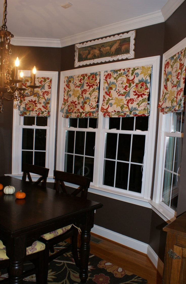 17 best roman shades images on pinterest window coverings roman shades in bow window area