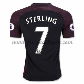 Premier League Fussball Trikots Manchester City 2016-17 Sterling 7 Auswärtstrikot Kurzarm