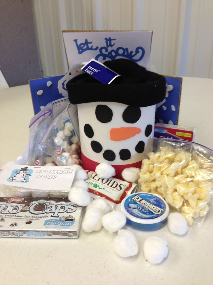 Snowman in a Box Care Package for College Student by Momscarepkg